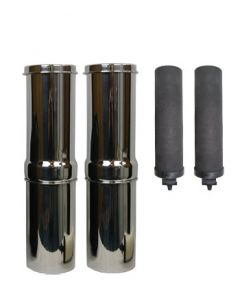 Special Offer: 2 x Stainless Steel Travel Systems With Black Berkey™ Filters