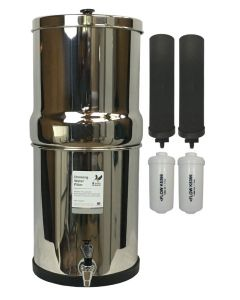 British Berkefeld Gravity Fluoride Reduction System with Black Berkey™ Filters and Berkey PF-2™ Elements